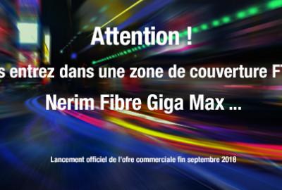 Nerim Fibre Giga Max - Offre Fibre FTTH Pro jusqu'à 1G/bits !