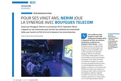 L' EDI Magazine revient sur la soirée des 20 ans de Nerim avec ses partenaires