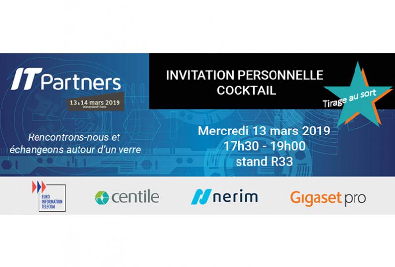 Nerim vous invite à un cocktail au salon IT Partners 2019
