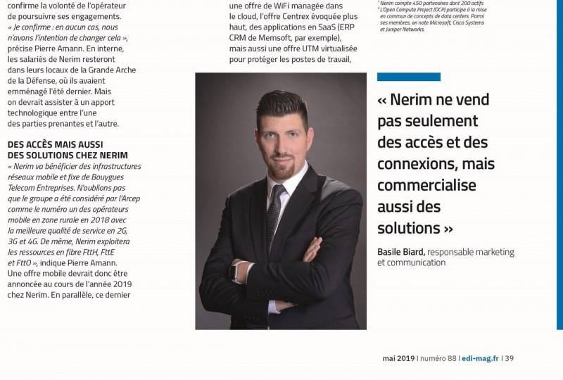 Nerim, portrait d'entreprise du mois dans le Magazine EDI !