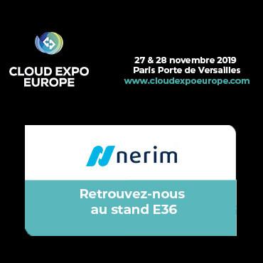 Nerim participera à Cloud Expo Europe les 27 & 28 novembre 2019